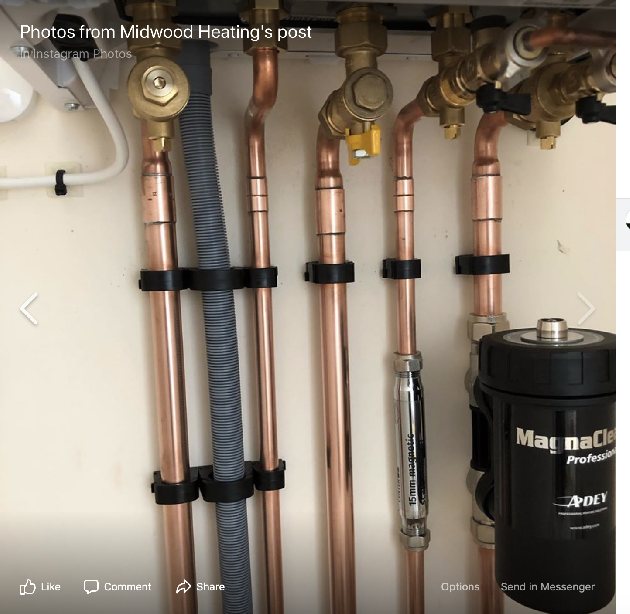 Pipework on a combination conversion